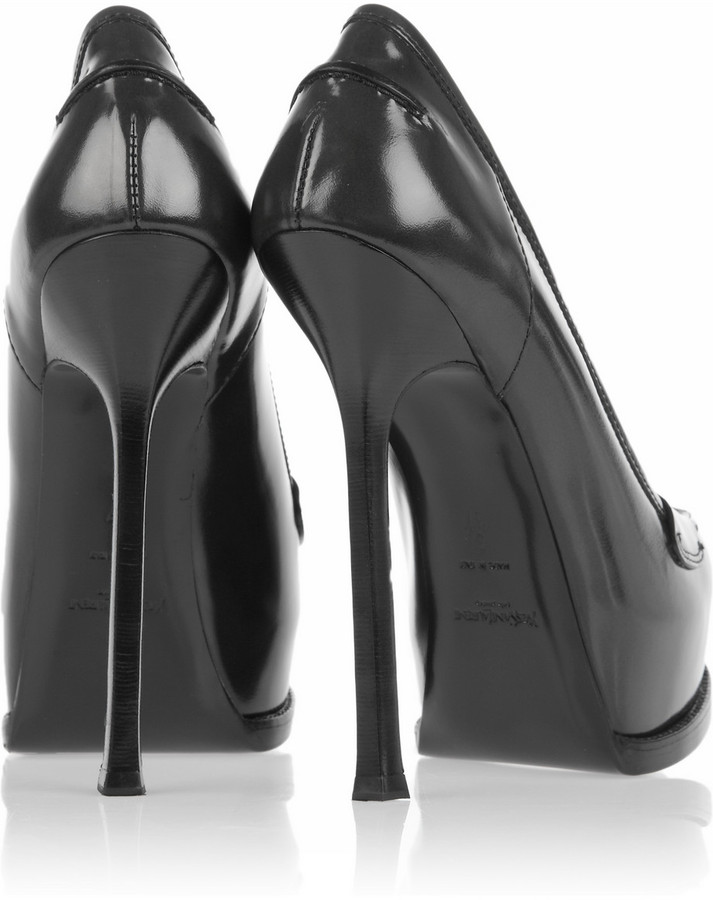 Yves Saint Laurent Tribtoo loafer-style leather pumps