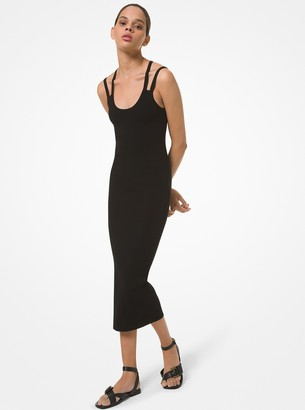 Michael Kors Collection Jennifer Ribbed Stretch Viscose Tank Dress