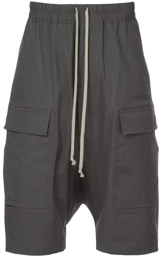 Rick Owens drop crotch cargo shorts