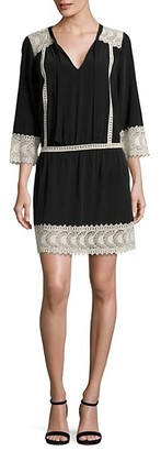 Joie Halette Lace Silk Dress
