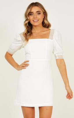 Showpo Image Of Her dress in white - 12 (L) Sale Dresses