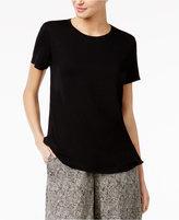 Eileen Fisher Stretch Jersey Scoop-Neck T-Shirt, Regular & Petite