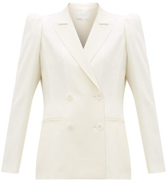 Roche Ryan Double-breasted Wool-twill Jacket - Womens - White