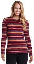 Cuddl Duds Women's Fleecewear with Stretch Crewneck Top