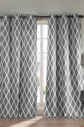 Duck River Textile Kittattinny Heavy Blackout Grommet Panel Curtains - Set of 2 - Grey