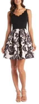Morgan & Company Juniors' Floral Fit & Flare Dress
