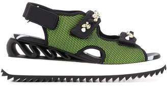 Le Silla embellished strap mesh panel sandals