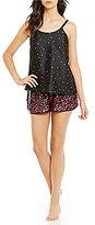 Kate Spade Confetti Heart-Print Charmeuse Pajamas