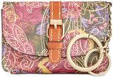 Patricia Nash Metallic Paisley Mini Torri Key Fob Pouch