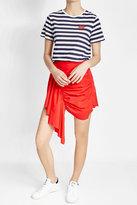 Zoe Karssen Printed Cotton and Linen T-Shirt
