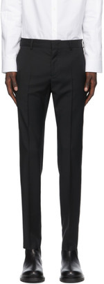 Valentino Black Wool and Mohair Skinny Trousers