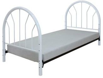 Winston Porter Saturn Twin Slat Headboard and Footboard Color: White