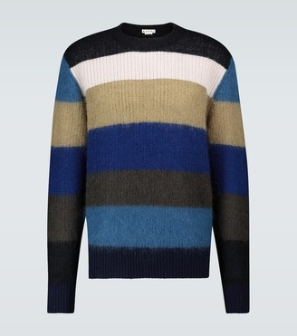 Marni Mohair-blend striped sweater