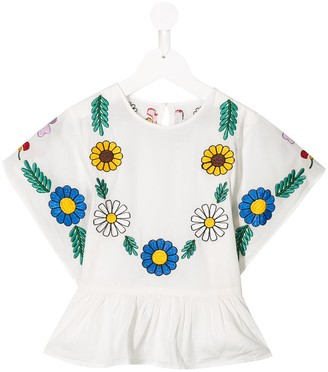Stella McCartney Organic Cotton Floral Peplum Blouse