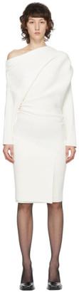 Proenza Schouler Off-White One-Shoulder Rib Dress