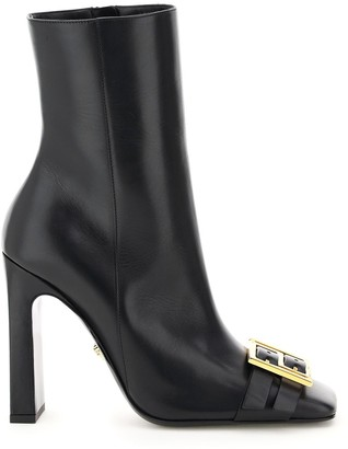 Versace Square-Toe Ankle Boots