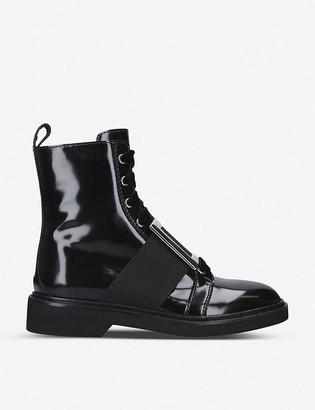 Roger Vivier Viv Rangers patent-leather ankle boots