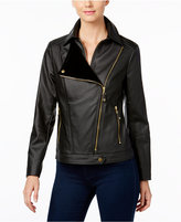INC International Concepts Faux-Leather Moto Jacket, Only at Macy's