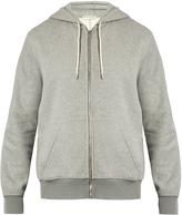 Balenciaga Logo-intarsia hem cotton-jersey hooded sweatshirt
