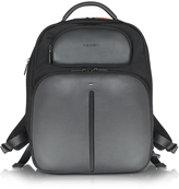 Giorgio Fedon Web File 2 Black Leather and Nylon Men's Backpack