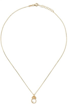 As 29 14kt yellow gold diamond Pineapple necklace
