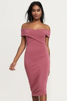 Dynamite Off-The-Shoulder Wrap Dress