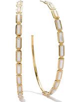Ippolita 18k Gold Rock Candy Gelato Rectangular Hoop Earrings, Mother-of-Pearl