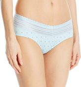 Warner's Warners Women's No Pinching. No Problems. Hipster with Lace Panty, Cl Blue/Multi Dot Print