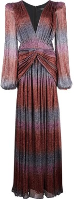 PatBO Rainbow plunge gown