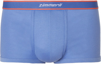 Zimmerli Cotton Boxer Briefs - Men - Blue