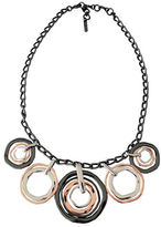 Nine West Tri Tone Multi Disc Necklace