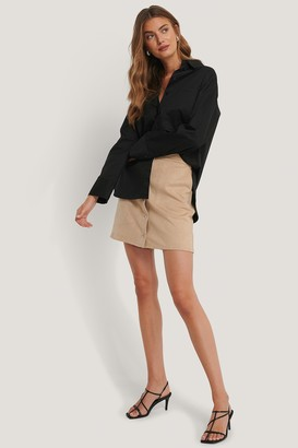 NA-KD Suede Mini Buttoned Skirt