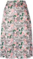 Julien David floral printed midi skirt