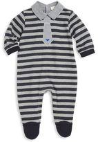 Armani Junior Baby's Striped Suit Footie