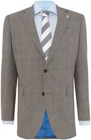 Chester Barrie Check Notch Collar Tailored Fit Suit