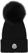 Moncler Fur-trimmed wool hat