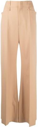 Chloé Flared High-Waisted Trousers