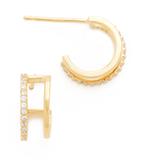 Tai Double Hoop Pave Earrings