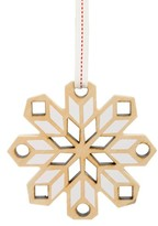 Nordstrom Snowflake Wooden Ornament