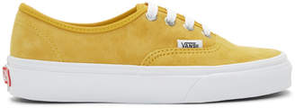 Vans Yellow Suede Authentic Sneakers