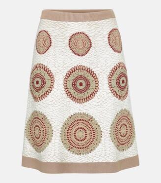 Alaia Jacquard stretch-knit miniskirt
