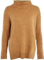 Topshop PETITE Mohair Pointelle Roll Neck Jumper