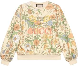 Gucci Flora print oversized sweatshirt