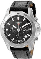 Swiss Legend Men's 'Islander' Quartz Stainless Steel and Leather Watch, Color:Black (Model: 16198SM-01)
