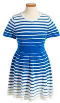 Milly Minis Girl's Stripe Flare Dress