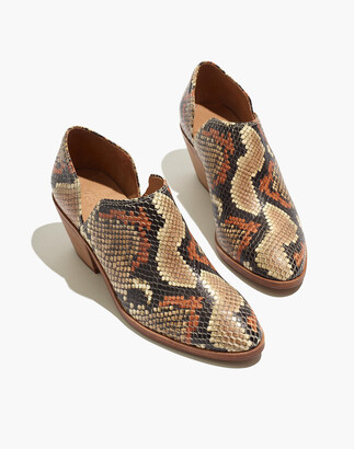 Madewell The Gloria Shoe Boot in Snake Embossed Leather