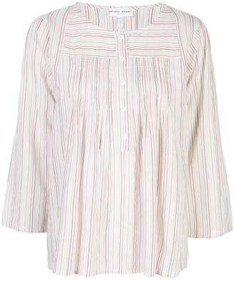 Apiece Apart striped loose fit blouse