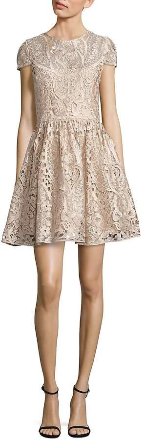 Alice + Olivia Women's Gracia Lace Fit-&-Flare Dress