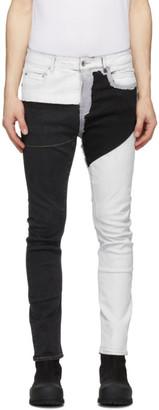 Rick Owens Black and White Detroit Cut Jeans