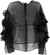 Enfold ruffle chiffon blouse